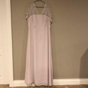 Lace Insert Paneled Maxi Dress
